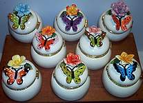 Butterfly Floral TRINKET BOXES ~ Assortment